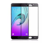 Защитное стекло для Samsung Galaxy A5 2017 (вид - 3D, черная рамка, комплектация эконом)