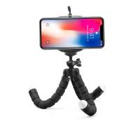 Штатив-трипод для телефона с гибкими ножками, черный