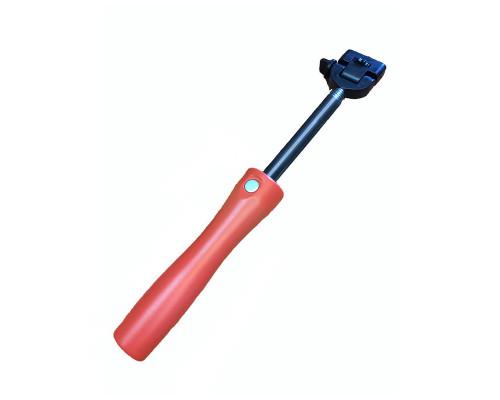 Монопод для селфи Stainless Steel Pole Bluetooth, красный