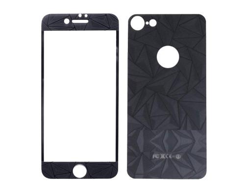 Защитное стекло для iPhone 7 комплект на экран и заднюю поверхность осколки