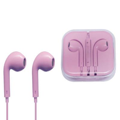 Гарнитура для iPhone с разъемом 3.5 Jack розовый