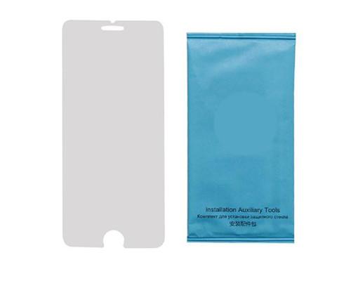 Защитное стекло для iPhone 7 (вид - 2.5D, тонкое, в комплекте салфетка и стикер)