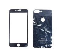Защитное стекло для iPhone 7 Plus 2 в 1 комплект стекло на дисплей и заднюю панель телефона, рисунок осколки