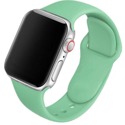 Ремешок для Apple Watch 38 - 40 мм силиконовый бирюзовый