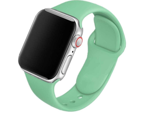 Ремешок для Apple Watch 42 - 44 мм силиконовый бирюзовый