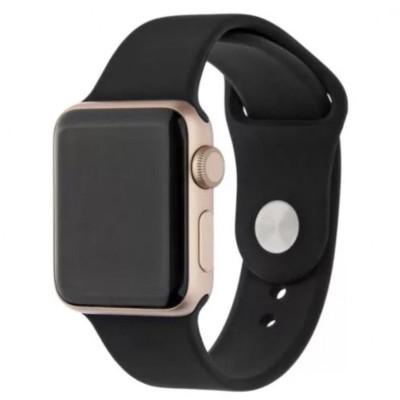 Ремешок для Apple Watch 42 - 44 мм силиконовый черный