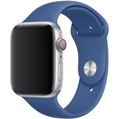 Ремешок для Apple Watch 38 - 40 мм силиконовый синий