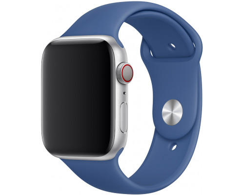 Ремешок для Apple Watch 42 - 44 мм силиконовый синий