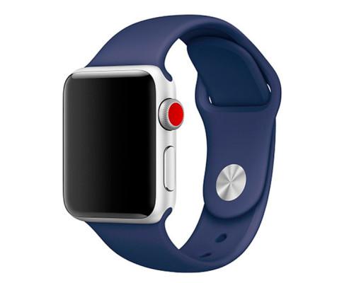 Ремешок для Apple Watch 42 - 44 мм силиконовый темно-синий
