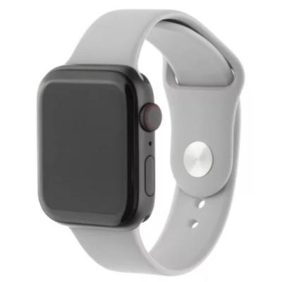 Ремешок для Apple Watch 42 - 44 мм силиконовый серый