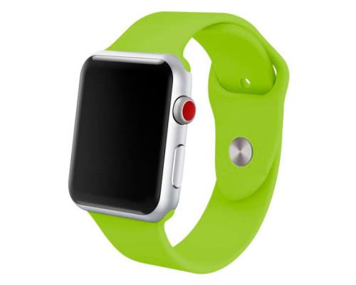 Ремешок для Apple Watch 42 - 44 мм силиконовый зеленый