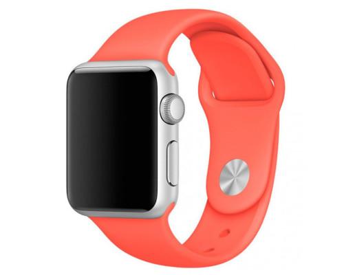 Ремешок для Apple Watch 42 - 44 мм силиконовый красный
