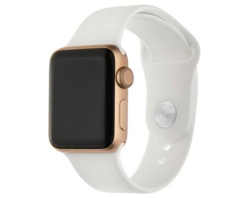 Ремешок для Apple Watch 42 - 44 мм силиконовый белый