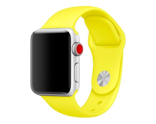 Ремешок для Apple Watch 42 - 44 мм силиконовый желтый