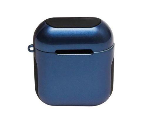 Пластиковый чехол для Airpods синий