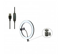 Кольцевая лампа CXB-260 для профессиональной съемки, селфи лампа с держателем для смартфона, диаметр лампы - 26 см