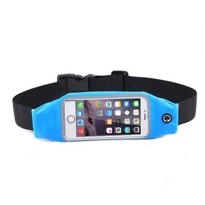 Спортивный чехол-ремень для телефона универсальный, голубой