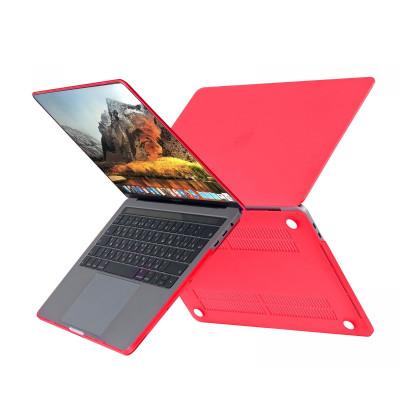 """Пластиковый чехол HardShell Case для Apple MacBook Air 13.3"""" (2018) красный"""