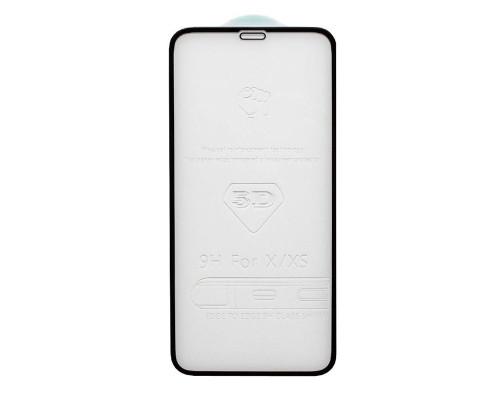 Защитное стекло для iPhone XS 5D толщиной 0.33 мм черное