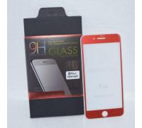 Защитное стекло для iPhone 8 Plus 5D красное