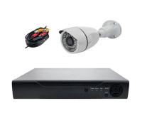 Комплект AHD видеонаблюдения на 1 камеру для улицы 2Mп