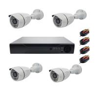 Комплект AHD видеонаблюдения на 4 камеры для улицы 2Mп