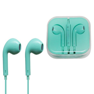 Гарнитура для iPhone с разъемом 3.5 Jack зеленый