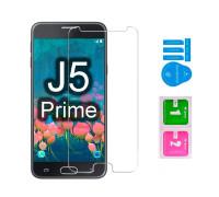 Защитное стекло для Samsung Galaxy J5 Prime (вид - 2.5D, в комплекте салфетка и стикер)