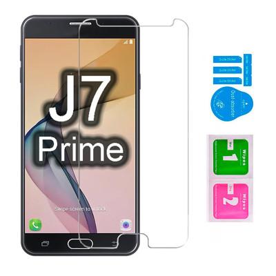 Защитное стекло для Samsung Galaxy J7 Prime (вид - 2.5D, в комплекте салфетка и стикер)