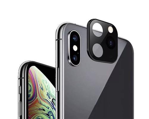 Защитное стекло на камеру IPhone XS имитирует iPhone 11