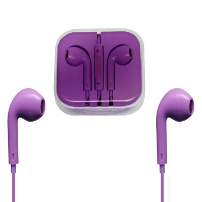 Гарнитура для iPhone с разъемом 3.5 Jack фиолетовые