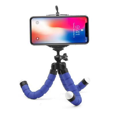 Штатив-трипод для телефона с гибкими ножками, синий