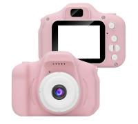 Детский фотоаппарат X2 цифровой розовый (прорезиненное покрытие)