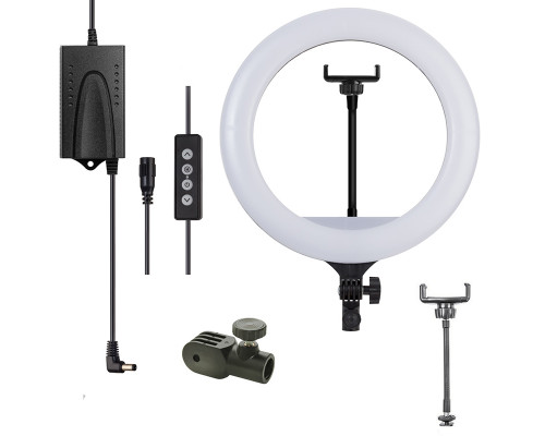 Кольцевая светодиодная лампа SL-36C с держателем телефона, диаметр 36 см