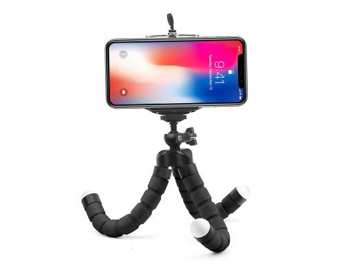 Штатив-трипод Flex-01 для телефона с гибкими ножками, черный