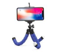 Штатив-трипод Flex-01 для телефона с гибкими ножками, синий