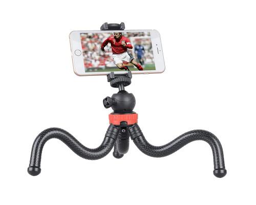 Штатив трипод Flex-0330 для телефона и фотоаппарата с прорезиненными гибкими ножками, настольная тренога