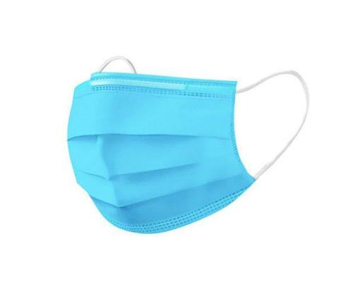 Защитная лицевая маска одноразовая трехслойная (упаковка 50 шт)
