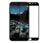 Защитное стекло для Samsung Galaxy J4 2018 5D полная проклейка черное