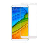 Защитное стекло для Xiaomi Redmi 5 Plus 5D полная проклейка белое