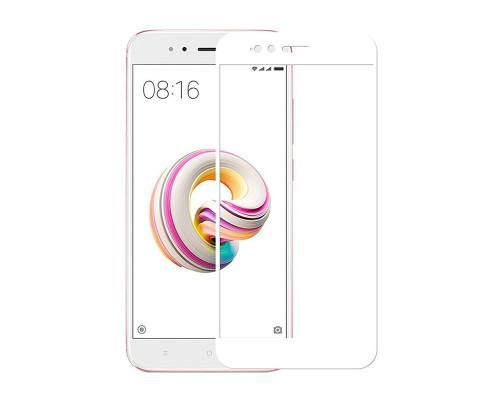 Защитное стекло для Xiaomi Mi A1 5D белое