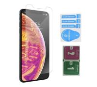 Защитное стекло для iPhone XS Max (вид - 2.5D, в комплекте салфетка и стикер)
