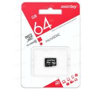 Карта памяти SmartBuy microSDHC Class 10 64gb