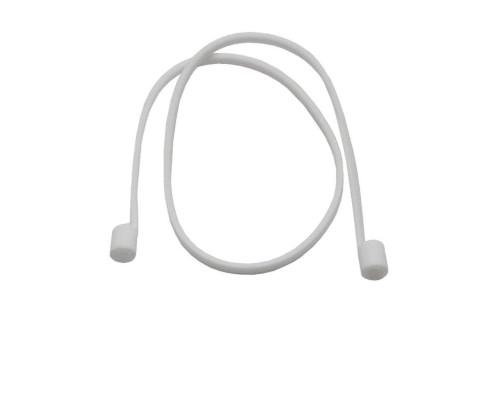 Силиконовый шнурок для Airpods белый