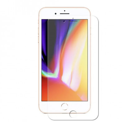 Защитное стекло для iPhone 8 3D с прозрачной рамкой