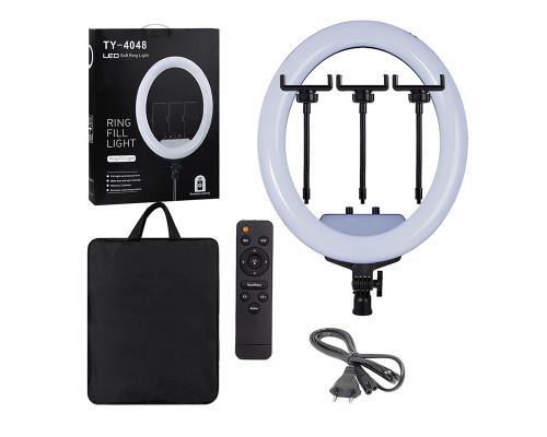 Кольцевая лампа TY-4048 с пультом, тремя держателями телефона, сумкой, диаметр 40 см, форма овал