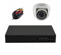 Комплект AHD видеонаблюдения на 1 камеру для дома и офиса 2Mп