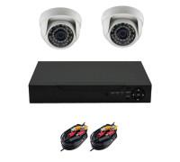Комплект AHD видеонаблюдения на 2 камеры для дома и офиса 2Mп