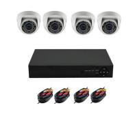 Комплект AHD видеонаблюдения на 4 камеры для дома и офиса 2Mп