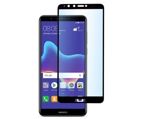 Защитное стекло для Huawei Y9 2018 5D полная проклейка черное
